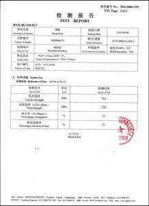 A193 B8M CL2 uchun sertifikat
