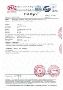S31254 uchun sertifikat