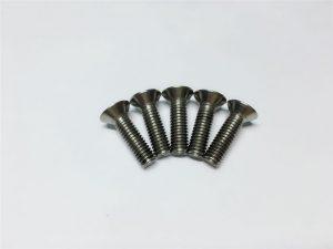 M3, M6 titaniumli vintli tekis bosh rozetkaning bosh qopqog'i titan gardish vintlari o'murtqa operatsiya uchun