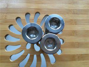 yuqori sifatli ASEM hex soket titanium gr2 vint / murvat / yong'oq / yuvish vositasi /